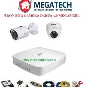 trọn bộ 2 camera Dahua 1.0 Megapixel