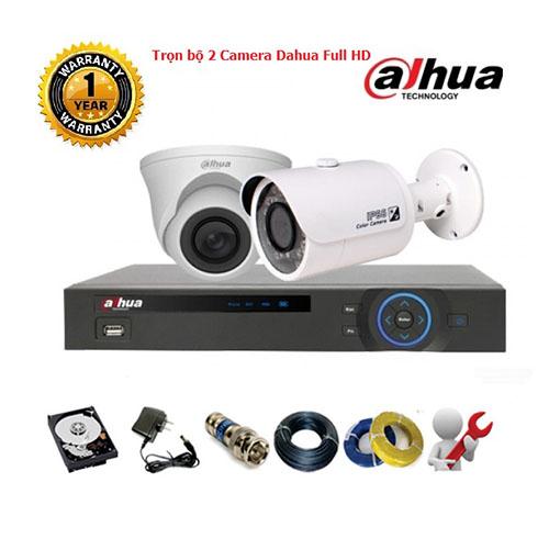 Trọn bộ 2 Camera Dahua Full HD