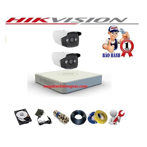 Trọn bộ 2 Camera Hikvision có màu 2424