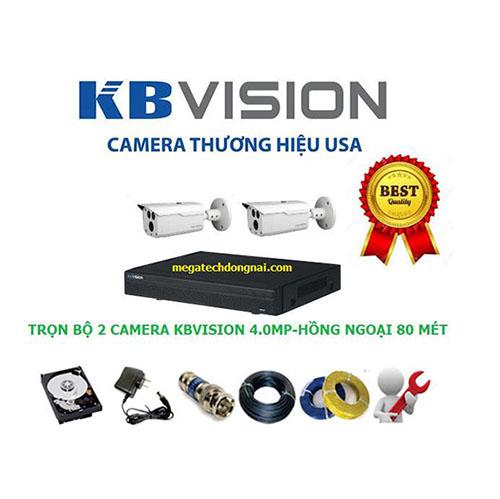 Trọn bộ 2 Camera Kbvision 4.0MP