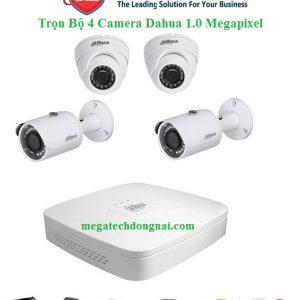 trọn bộ 4 camera Dahua 1.0 Megapixel
