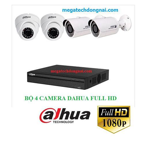 Trọn bộ 4 Camera Dahua FullHD