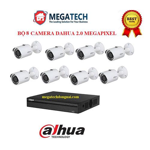 Trọn bộ 8 Camera Dahua Full HD(2.0MP)
