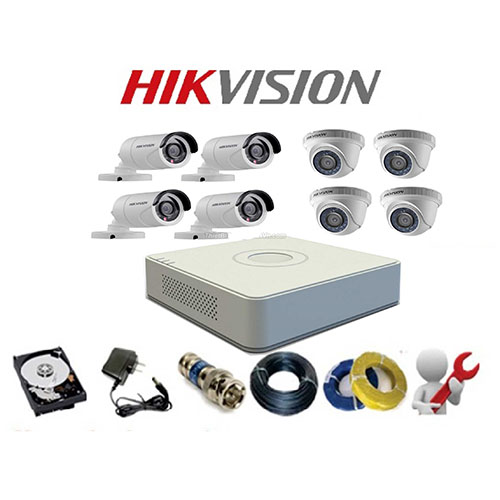 TRỌN BỘ CAMERA HIKVISION 2.0MP 08 CAMERA
