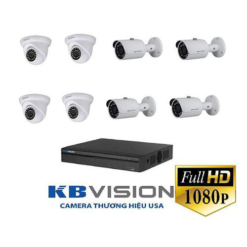 Bộ 8 camera Kbvision 2.0 Megapixel Công nghệ Night Breaker