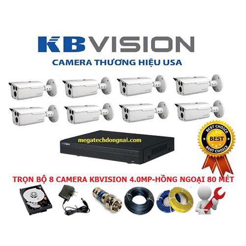 Trọn bộ 8 Camera Kbvision 4.0MP