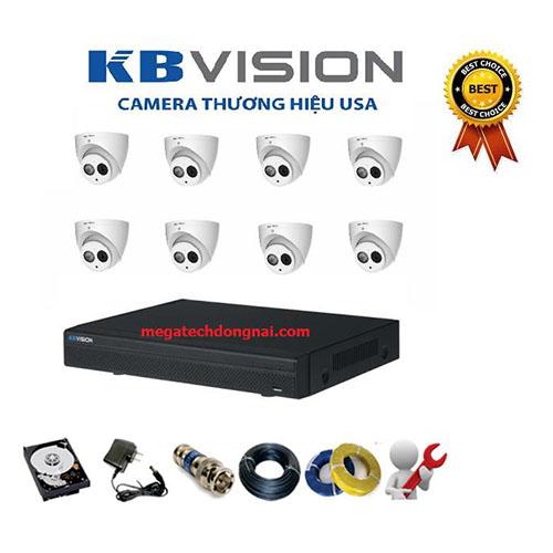 Trọn bộ 8 Camera Kbvision 4.0MP (Dome)