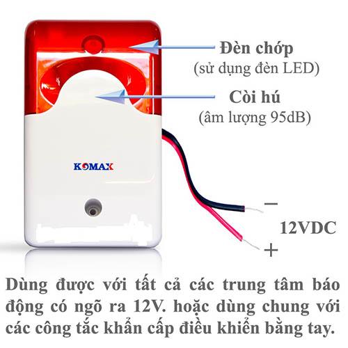 Còi hụ báo động kèm đèn chớp KM-A09