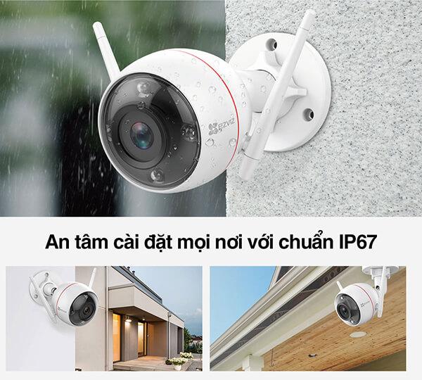 Camera Wifi Ezviz C3W CS-CV310 với tiêu chuẩn ip67
