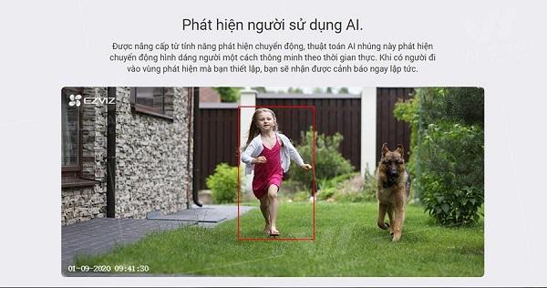 Camera wifi Ezviz CS-C3N 1080P Full HD thuật toán AI