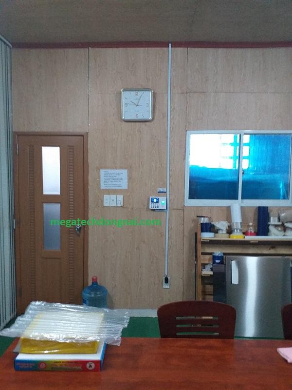 Lắp đặt máy chấm công K60 tại SG Chemical vina
