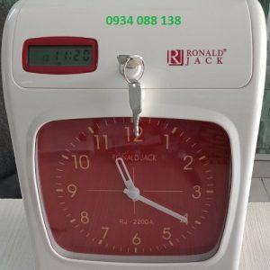 máy chấm công thẻ giấy ronald jack RJ2200A