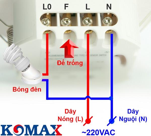 sơ đồ đấu dây cảm ứng hồng ngoại âm trần KM-S27