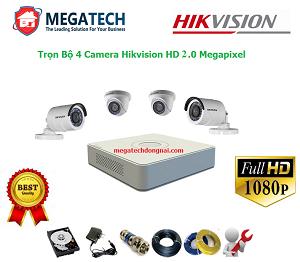 trọn bộ 4 camera hikvision ở bình dương