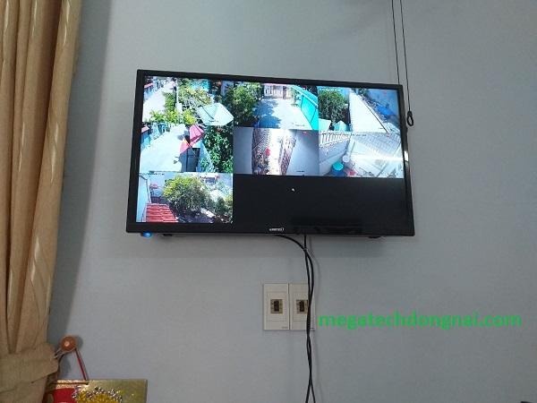 lắp đặt camera IP Hikvision quan sát trên màn hình tivi